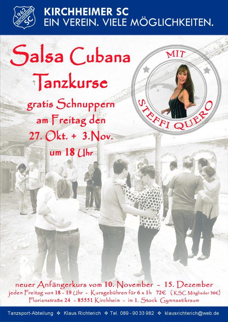Salsa Cubana – Gratis Schnupperstunde und neuer Anfängerkurs