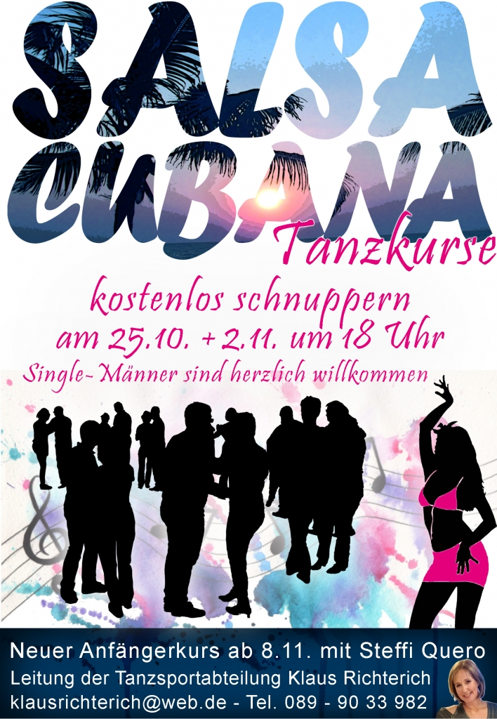 Salsa Cubana 2019 – Gratis Schnupperstunden und neuer Anfängerkurs